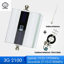 ZQTMAX 60dB 3G repetidor amplificador de señal WCDMA 3G UMTS 2100 móvil repetidor de señal móvil antena amplificador de señal 3g