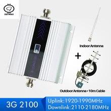 ZQTMAX 60dB Repeater 3G WCDMA wzmacniacz sygnału 3G UMTS 2100 mobilny wzmacniacz sygnału komórkowego wzmacniacz antenowy 3g sygnał