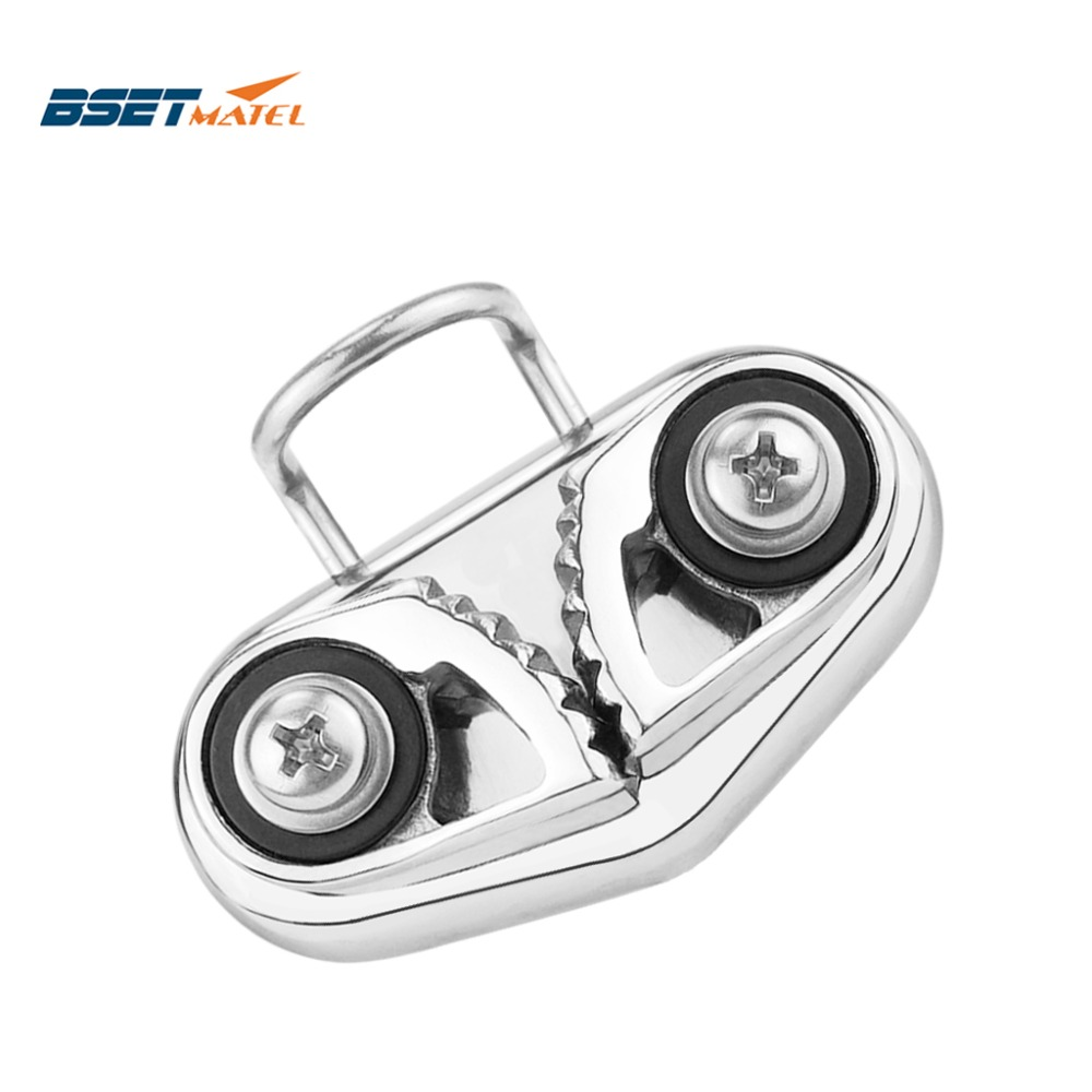 Stainless Steel 316 Cam Cleat With Wire Leading Ring Boat Cam Cleats Matic Fairlead Marine Sailing Sailboat Kayak Canoe Dinghy