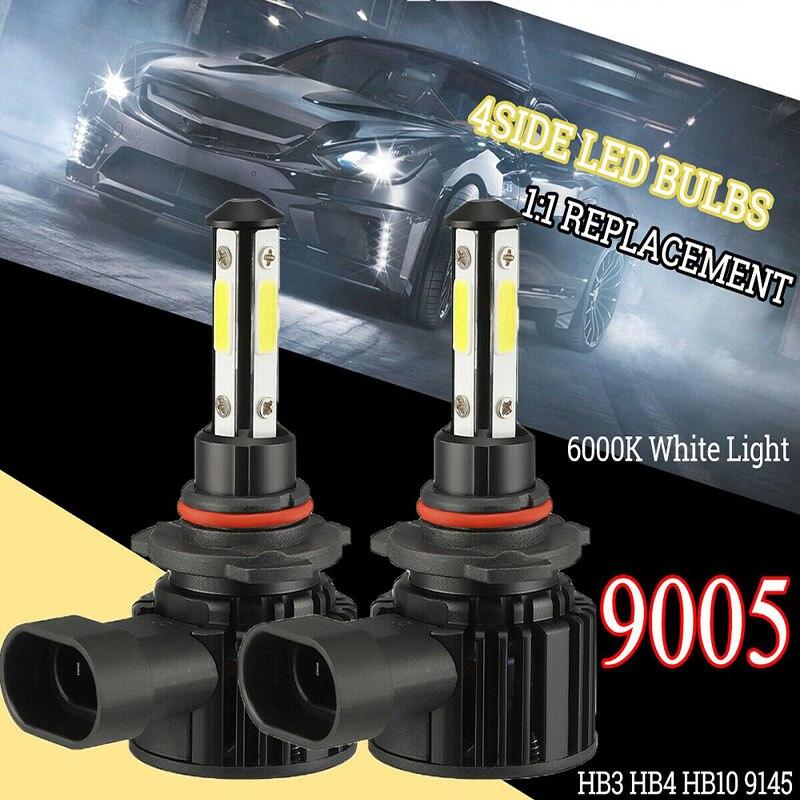 2 шт., автомобильные светодиодсветодиодный лампы 6500K 9005 9006 H4 H11 лм