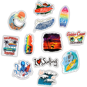 50 шт. наклейки для серфинга на открытом воздухе летние спортивные тропические пляжные водонепроницаемые наклейки для серфинга Сделай Сам д...