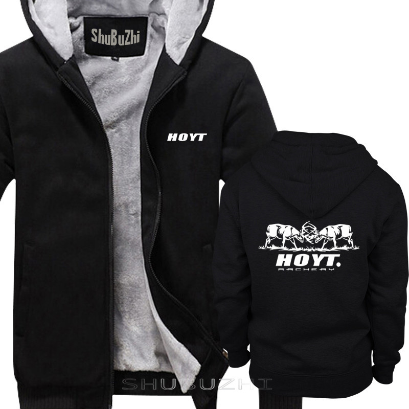 Image 2 - thick jacket men brand clothing new short warm coat Hoyt Archery  Fighting Bucks loose fashion brand mens hoodies sbz5074Hoodies