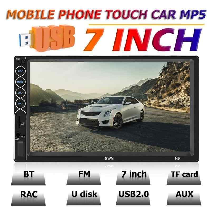 SWM N6 2 DIN araba Stereo Video MP5 çalar 2din 7 inç dokunmatik ekran Bluetooth USB AUX FM araba radyo geri görüş kamerası multimedya oynatıcı