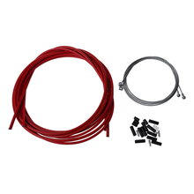 Bike Bicycle Complete Front & Rear Inner Outer Wire Gear Brake Cable Set - Red rear gear box housing complete set drive