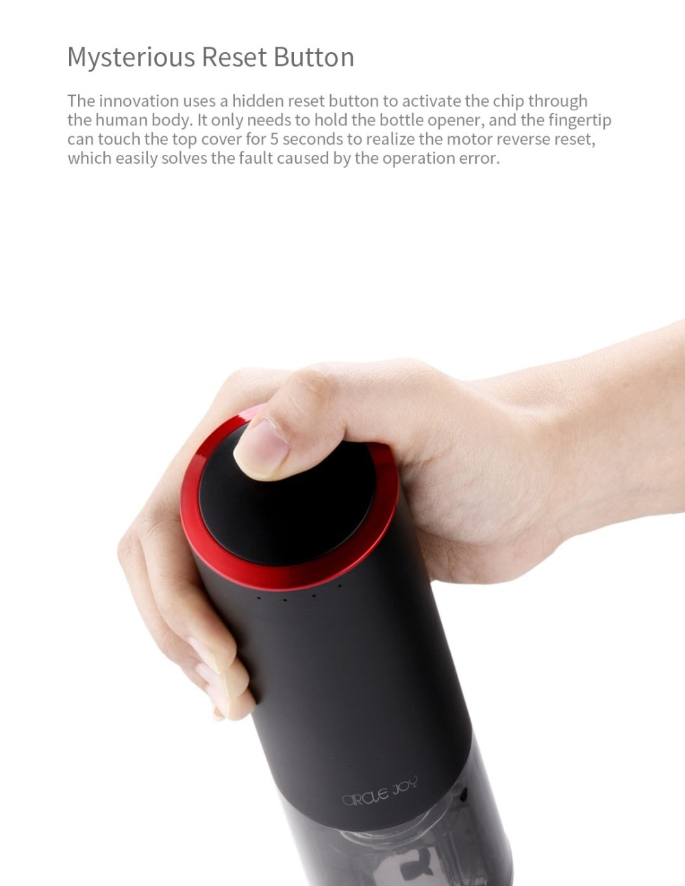 Xiaomi Circle Joy Electric Wine Opener Electric Automatic Bottle Opener USB Charging Bottle Opener Kitchen Opening Tool 2Colors (2)