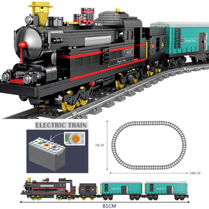 Image 4 - Technic Battery Powered Electric Classic Compatible All Brands Train City Rail Creator Building Blocks Bricks Toys For kids