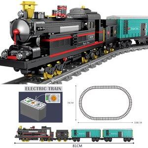 Image 4 - Tecnología con batería eléctrica clásica Compatible con brank Train City Rail Creator bloques de construcción juguetes para niños regalo