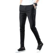 Новинка, четыре сезона, мужские эластичные спортивные штаны высокого качества, дышащие спортивные штаны