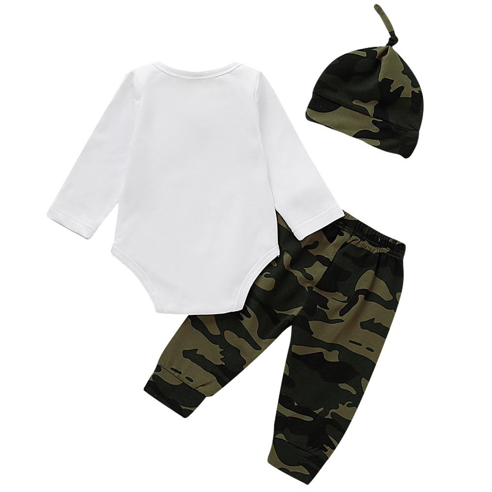 Cute 3PCS Set Newborn Baby Boy Clothes Lovely bowtie kids Cotton Bodysuit Tops Long Pants Hat Outfits Clothes Set  0 18M D30