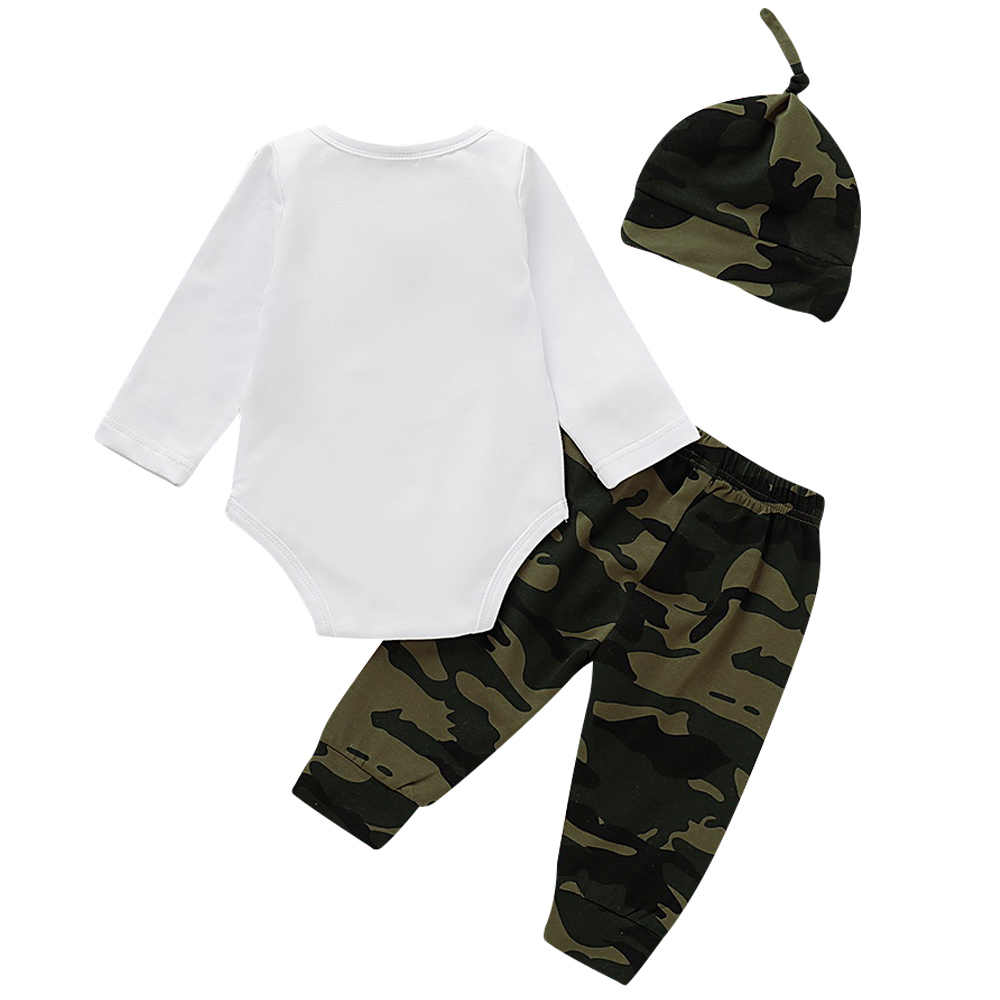 Nette 3PCS Set Neugeborenes Baby Kleidung Schöne bowtie kinder Baumwolle Body Tops Lange Hosen Hut Outfits Kleidung Set 0-18M D30