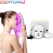 Beauty Skin Rejuvenation Photon 7 Color LED Light Therapy Whitening Anti-aging Acne Smooth Wrinkles Fine Lines Tightening