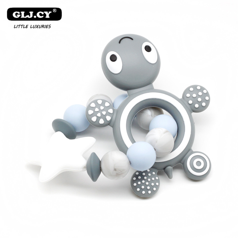 New Style! Silicone Teether Silicone Bracelet* Silicone beads Turtle Teether, Food Grade Silicone Teether