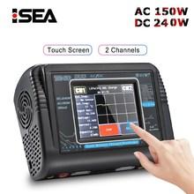 HTRC T240 Duo RC зарядное устройство Dis зарядное устройство AC 150 Вт DC 240 Вт 10A сенсорный экран двухканальный для RC модели игрушки Lipo Pb Зарядное устройство