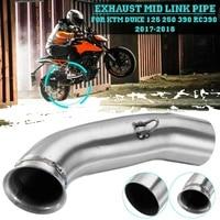 Para ktm duke 390 250 125 duke rc 390 rc390 2017 2018 motocicleta moto silenciador do escape tubo de meio conectar adaptador sistema de deslizamento