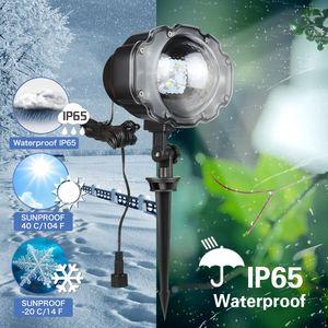 Image 3 - Luces de Navidad proyector de Exteriores Proyector láser de jardín Mini lámpara Led proyector de nieve en movimiento para Navidad Fiesta de Año Nuevo DA
