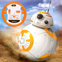 Free Shipping BB-8 Ball Star Wars RC Action Figure BB 8 Droid Robot 2.4G Remote Control Intelligent Robot BB8 Model Kid Toy Gift star wars bb 8 rc robot star wars bb 8 2 4g remote control bb8 figure robot action robot sound intelligent toys car for children