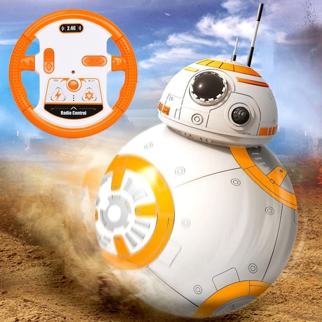 Livraison rapide BB-8 balle Star Wars RC figurine daction BB 8 droïde Robot 2.4G télécommande Robot Intelligent BB8 modèle enfant jouet cadeau