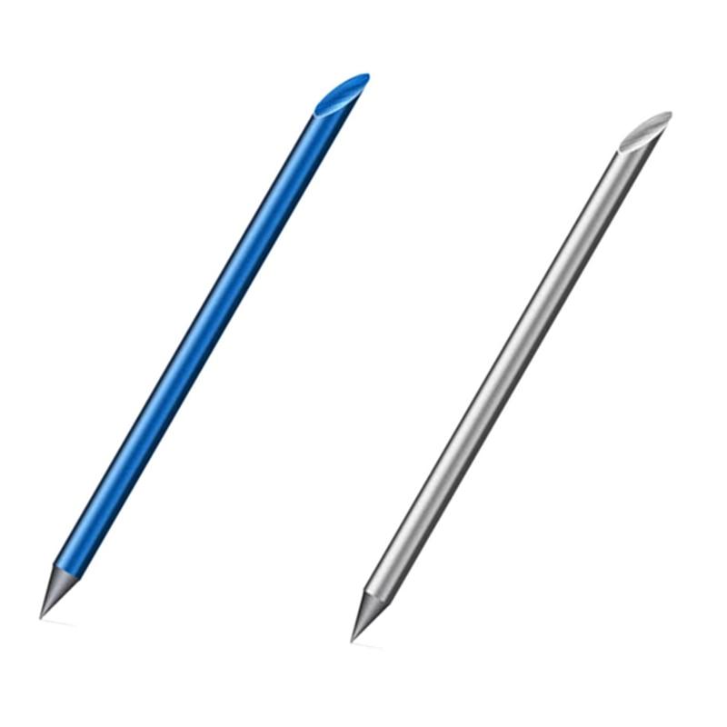 2 pcs azul prata novidade legal mortos vivos cheio de metal caneta fonte luxo eterno caneta