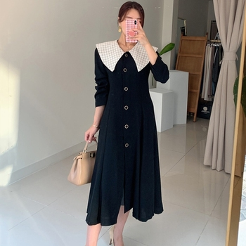 Spring Autumn New Fashion Female Button Long Sleeve Office Lady  Solid Shirt Dress Women Casual Slim New Dress autumn summer new women shirt dress long sleeved female dresses slim fashion party office lady sundress plus size casual rob