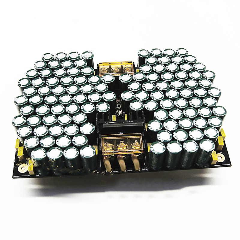 مرشح كهربائي مزدوج مقوم مرشح مجلس 50 فولت/63 فولت 25000 فائق التوهج * 2 50000 فائق التوهج المتوازي منخفض ESR خزان كبير فلتر ديناميكي كبير