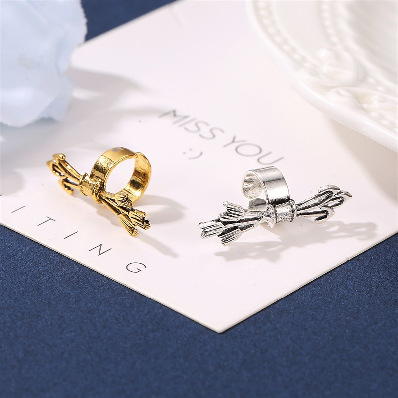 fashion ornaments retro metal ear bone clip trend personality ear clip punk rock jewelry archery ear cuffs in Clip Earrings from Jewelry Accessories