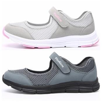 Moda feminina tênis casuais sapatos femininos malha 2019 sapatos de verão respirável formadores senhoras cesta femme tenis feminino