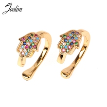 Joolim High Quality Colorful Hand Eye Clip On Earring Trendy Jewelry Wholesale цена и фото