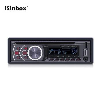 ISINBOX 1 Din Auto Radio Car Mp3 Player Bluetooth CD VCD DVD AUX USB FM Head Unit Remote Control Car Audio 1din Radio Stereo цена 2017