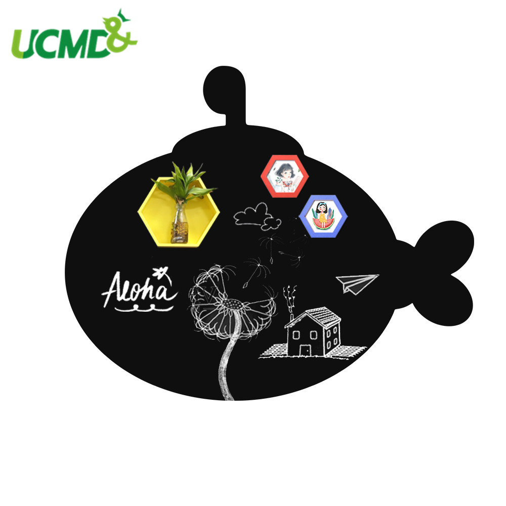 Flexible Whiteboard Blackboard Teaching Chalk Writing Painting Removable Wall Stickers Environmental Student Kids Toy BlackBoard