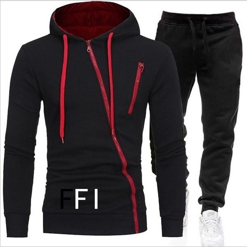 Brand Clothing Men's Casual Sweatshirts Pullover Cotton Men Tracksuit Hoodies Two Piece + Pants Sport Shirts Autumn Winter Set(China)
