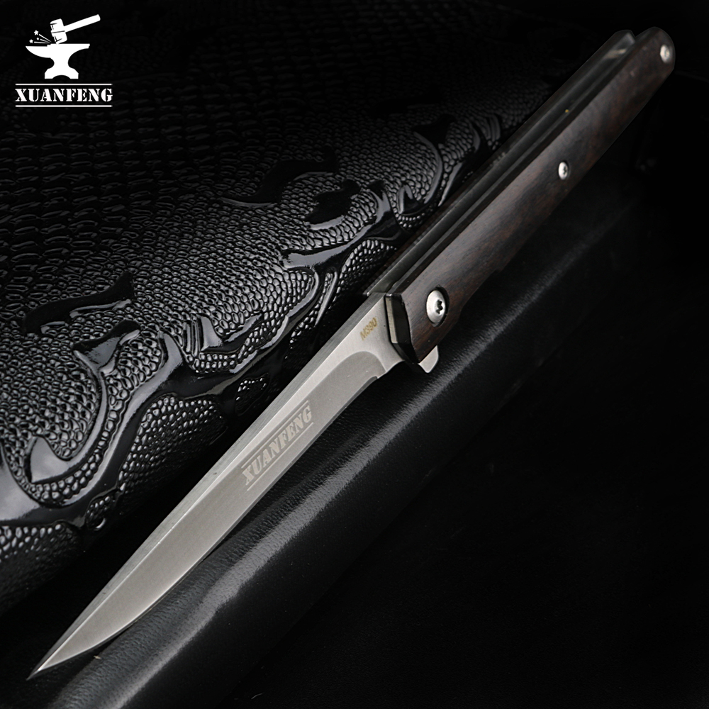 XUAN FENG Field Folding Knife High Hardness Tactical Knife Camping Hunting Short Knife Self-defense Tactical Knife
