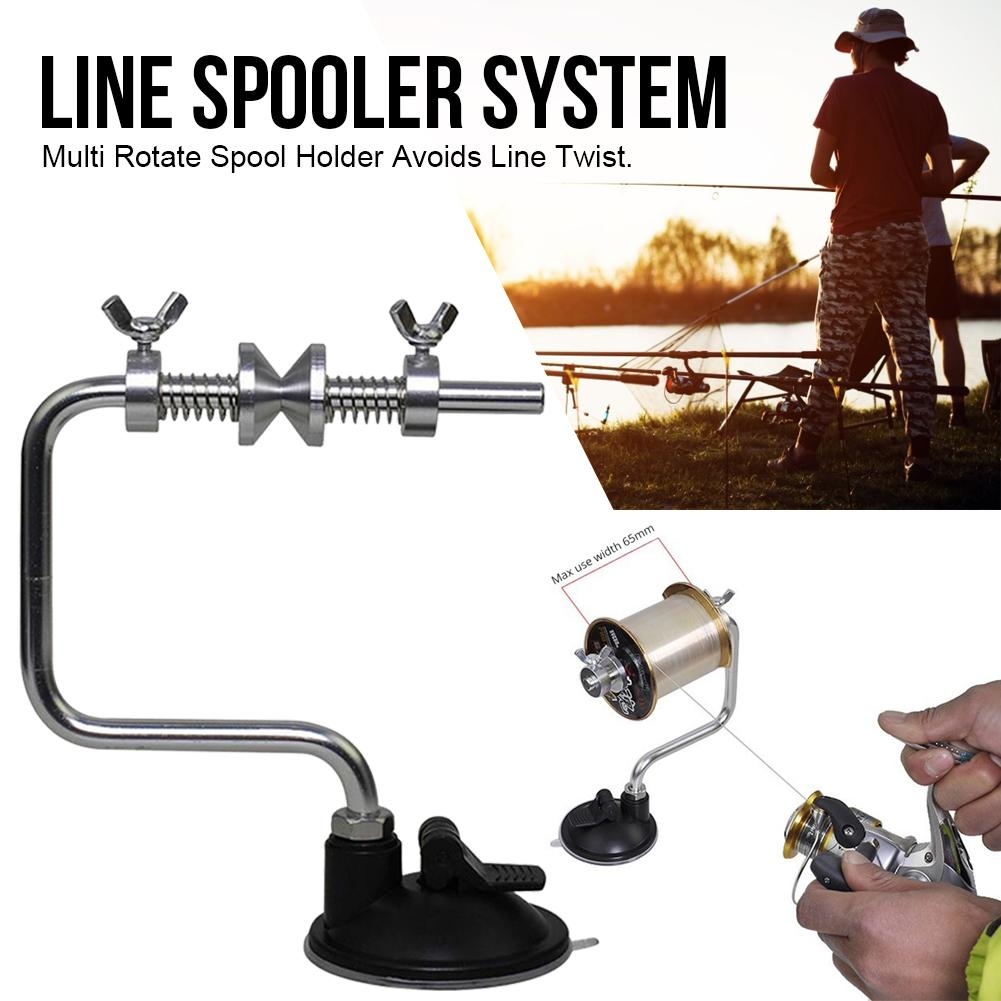 Winder Spool-Spooler-System Fishing-Accessories Sea-Carp Aluminum 4 Tackle-Tool Suction-Cup
