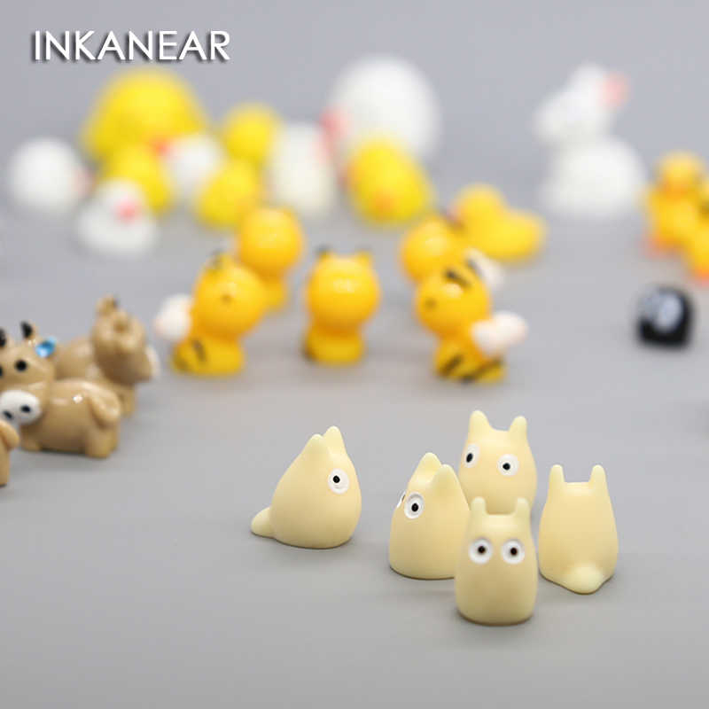 5pcs Mini Chick Rabbit Cow Sheep Animal Micro Fairy Garden Miniature/Terrarium/Succulent Decoration Ornaments DIY Accessories