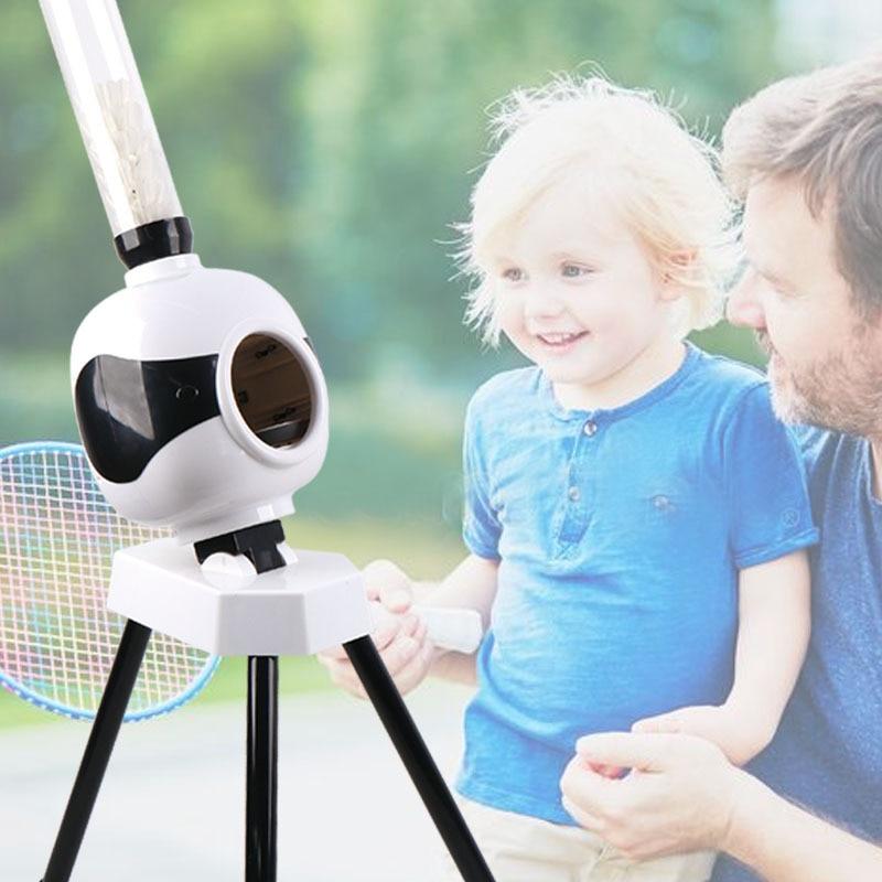 Professional Badminton Server Portable Automatic Serving Accompanier Badminton Beginner Trainer Serving Practice Machine HW224