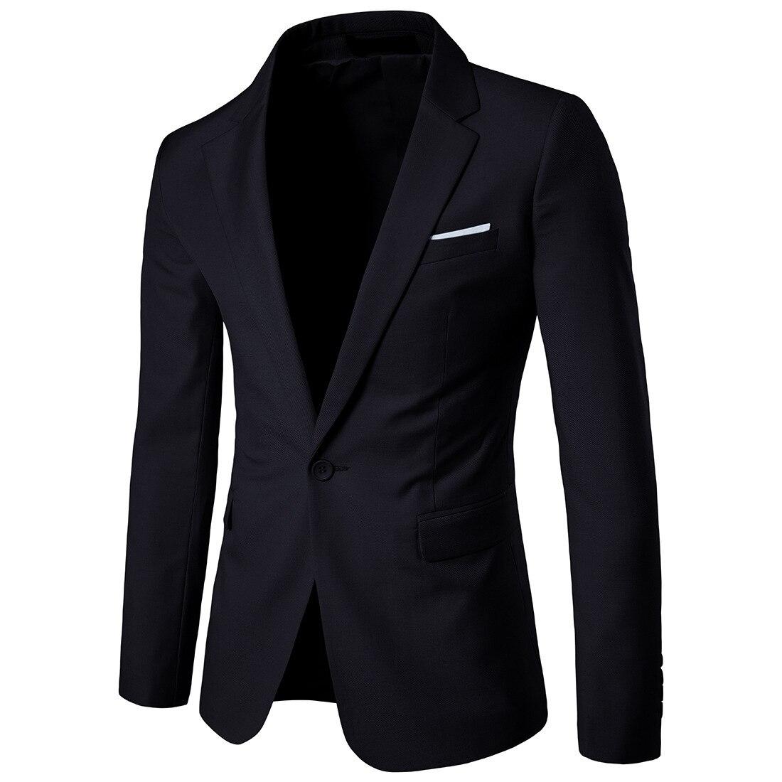 Men Autumn Clothing Solid Color Leisure Suit Men's Korean-style Slim Fit Best Man Wedding Small Suit Large Size Tops Fashion