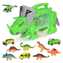 Dinosaur Storage Carrier for Dinosaurs & Car includes mini dinosaurs & car toys High Educational Toys Juguetes para niños#D5(China)