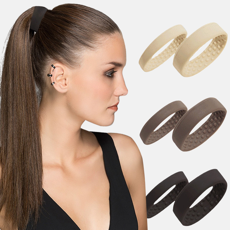 1pcs New Silicone Hair Ring Foldable Hair Rope Not Hurt The Scalp Ponytail Holder Hair Accessories Convenient Headwear