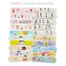 100PCS עמיד למים חמוד קריקטורה להקת סיוע עצירת דימום דבק תחבושות העזרה הראשונה חירום ערכת לילדים ילדים