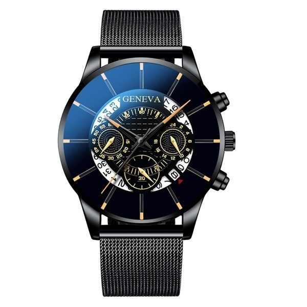 남자 시계 Reloj Hombre Relogio Masculino 스테인레스 스틸 캘린더 석영 손목 시계 남자 스포츠 시계 시계 제네바 시계 시간