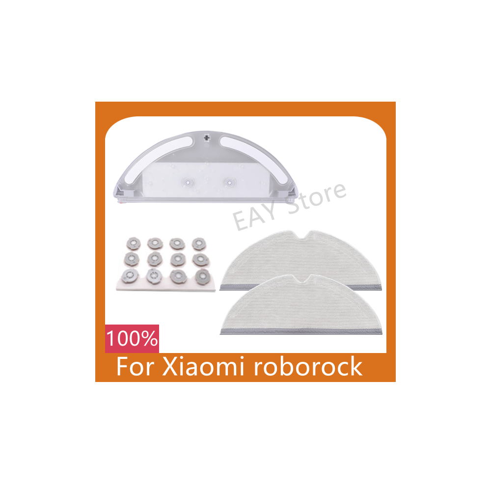 For Xiaomi Roborock S50 S55 S5 S60 floor sweeping robot parts water tank fully covered with cleaning cloth filter element parts