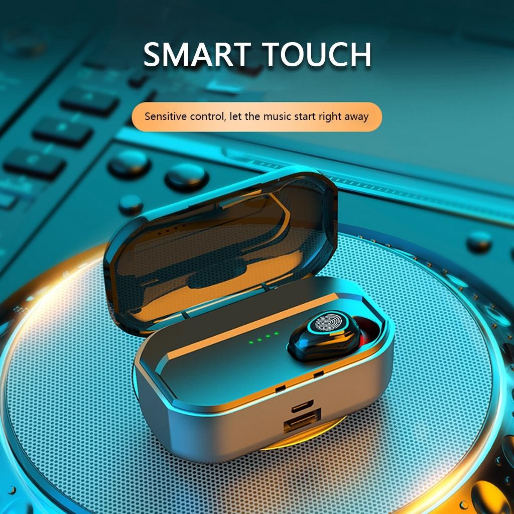 Bluetooth 5 0 Headset Tws Wireless Waterproof Sports Single Ear Earphones Mini Stereo Headphones Earbuds With Charging Box Bluetooth Earphones Headphones Aliexpress