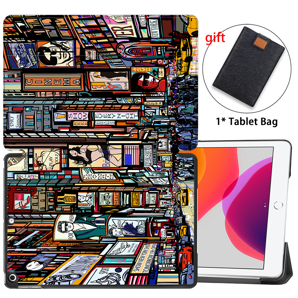 10.2 Flip Leather 2019 inch Case iPad Smart Generation For Stand MTT 8th 7th PU Tablet