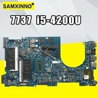 CN 02D5TK 2D5TK FOR Dell Inspiron 7737 Laptop Motherboard DOH70 12309 1 PWB F53D4 REV A00 I5 4200U Motherboard tested 100%