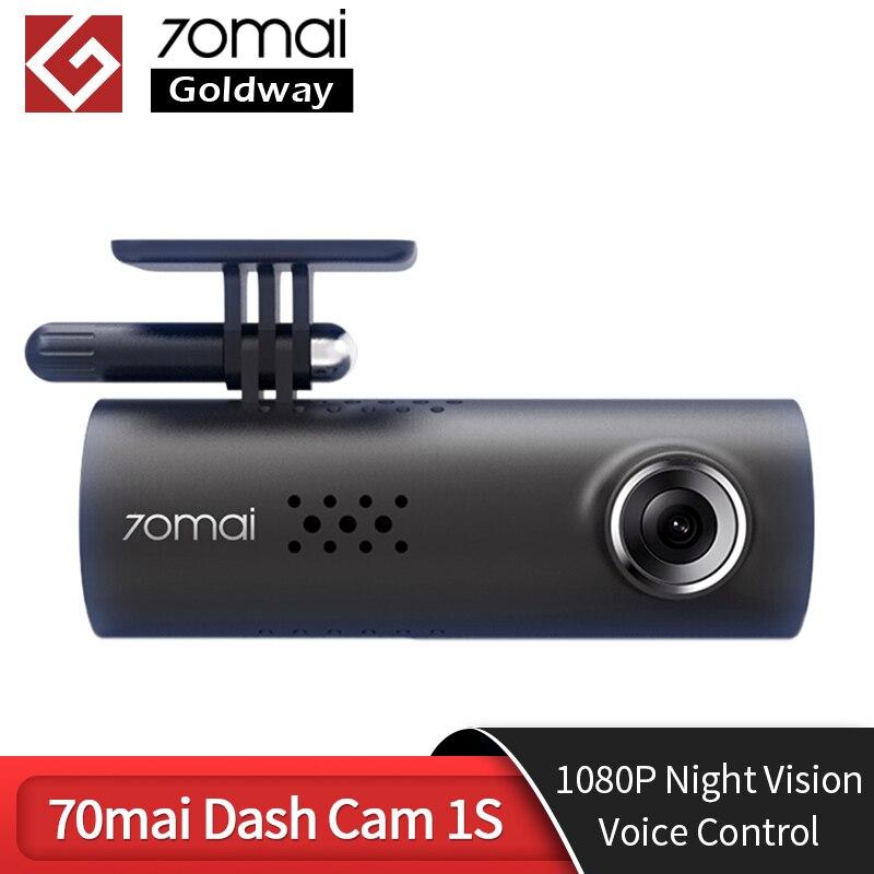 70mai inteligente traço cam 1 s inglês controle de voz 70mai 1 s 1080p hd visão noturna 70mai 1 s traço câmera gravador wifi 70 mai carro dvr