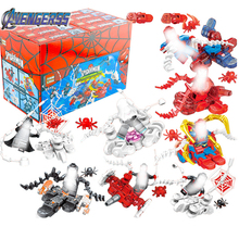 8pcs/lot Spiderman Spider-man Far From Home Anti Venom Carnage Spider Gwen Man Batman Avengers Building Blocks Toys Figures swd spider perch 100 0 4 13 25
