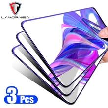 3PCS Lamorniea 20D Full Glue Tempered Glass For Huawei Honor 9X Pro 10 Lite V Mate 20 P 30 Screen protector