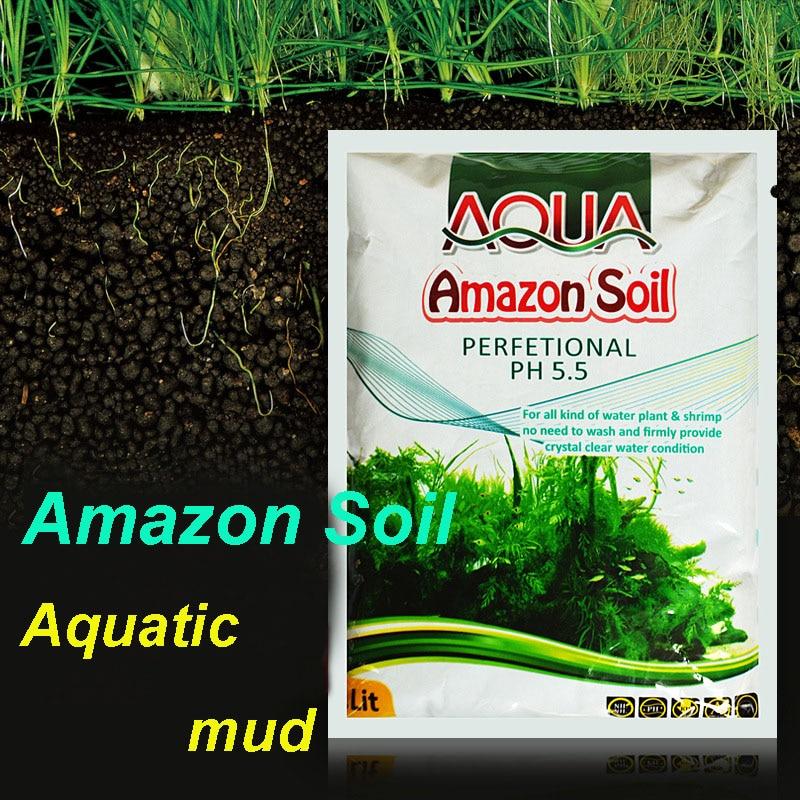 1L Amazon Aquarium Planted Substrate Sand, Soil Fertilizer Mud For Fish Tank Plants Care Freshwater