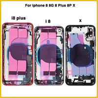 Full Housing Case For iphone 8 8G 8 Plus 8P X Battery Back Cover Door Rear Cover+ Chassis middle Frame With Flex Cable +sim card
