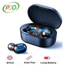 PJD TWS Wireless Earphones Bluetooth Noise Cancelling Headphones with LED Display In ear Headset Stereo Earbuds For Xiaomi Redmi