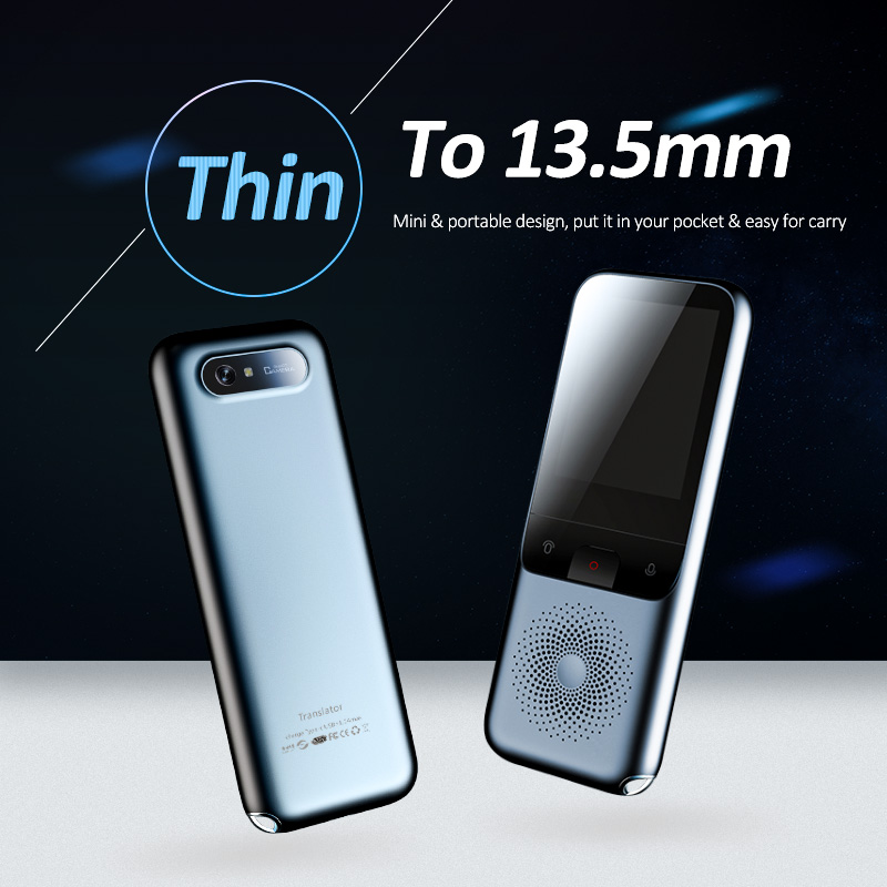 T11 Smart Instant Voice Translator WIFI 138 Languages Online Offline Dialect Real-time Recording Translation HD Noise Reduction image